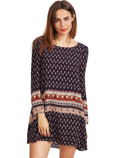 Tribal Print Swing Dress