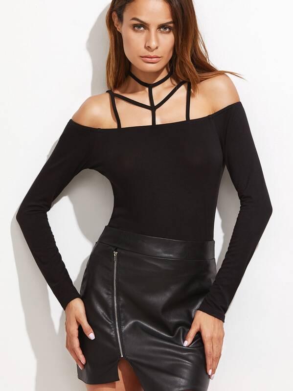 c5c2e7005277c Cheap Caged Cold Shoulder Slim Fit T-shirt for sale Australia