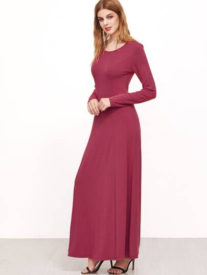Hot Pink Maxi Dress Long Sleeve - Gowns and Dress Ideas