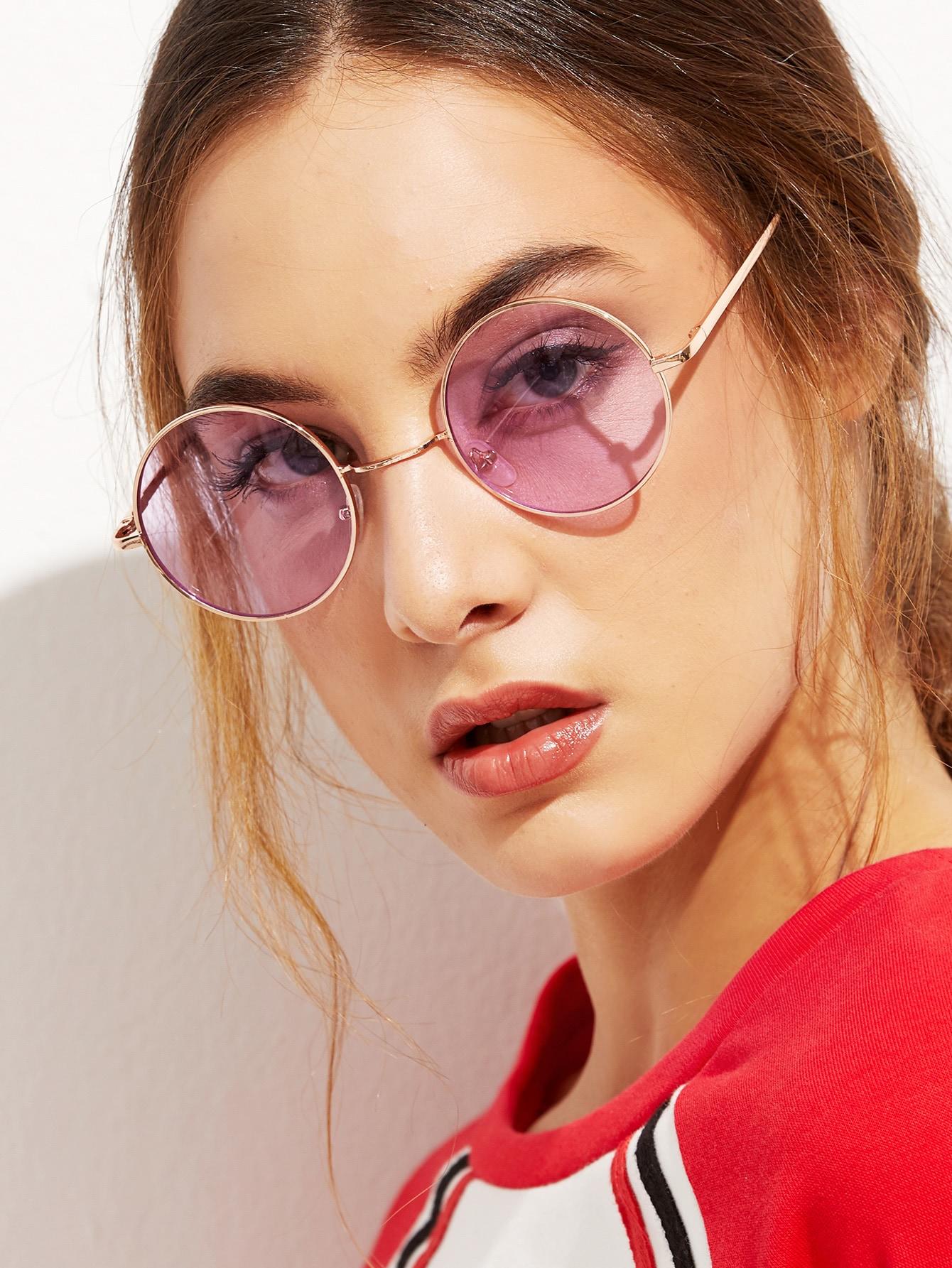 Gold Metal Frame Round Glasses