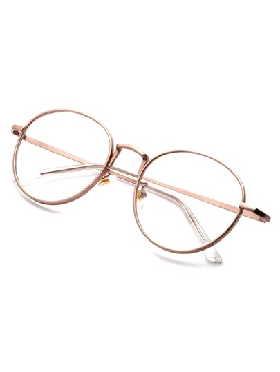 rose gold delicate frame clear lens glasses sunglass161011308_1 sunglass161011308_1