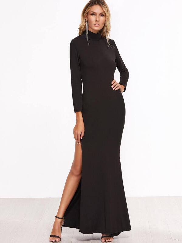 148f71231ed Black High Slit Maxi Dress