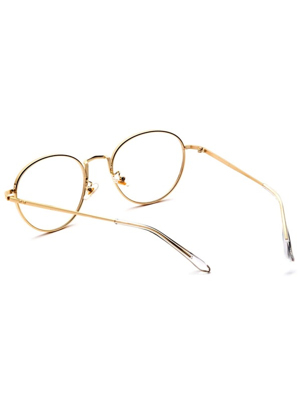 ef5d6cce7b Gold Delicate Frame Clear Lens Glasses -SheIn(Sheinside)