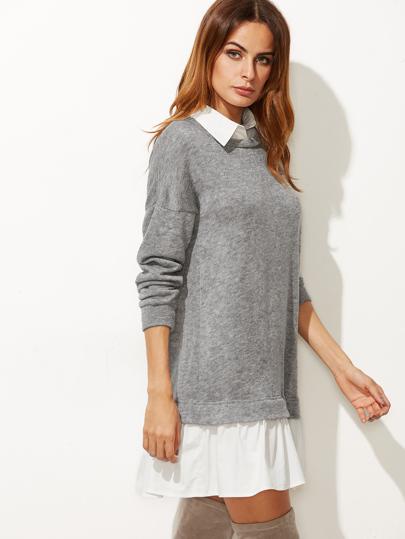 Vestido 2 en 1 estilo sudadera - gris  608040a1b3c9