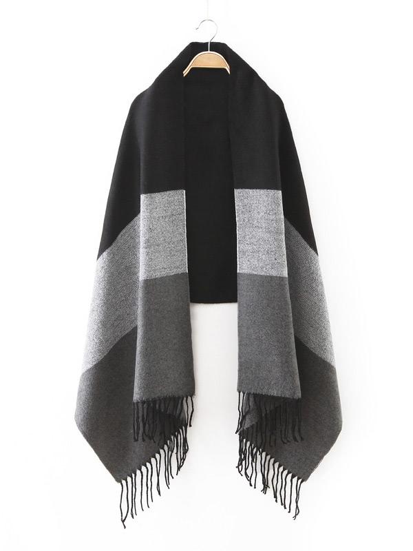écharpe plaid noir - Idée pour s habiller 668ce8b7f7d