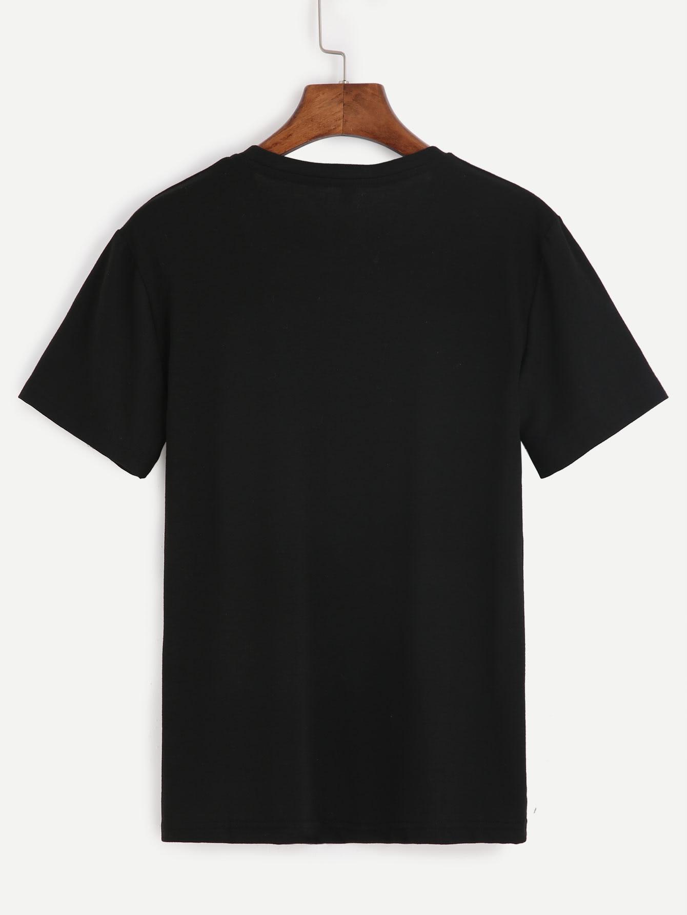 da4f090266 Slogan Print T-shirt | SHEIN