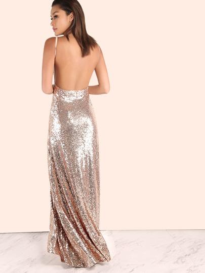 Rose gold sequin dress cheap
