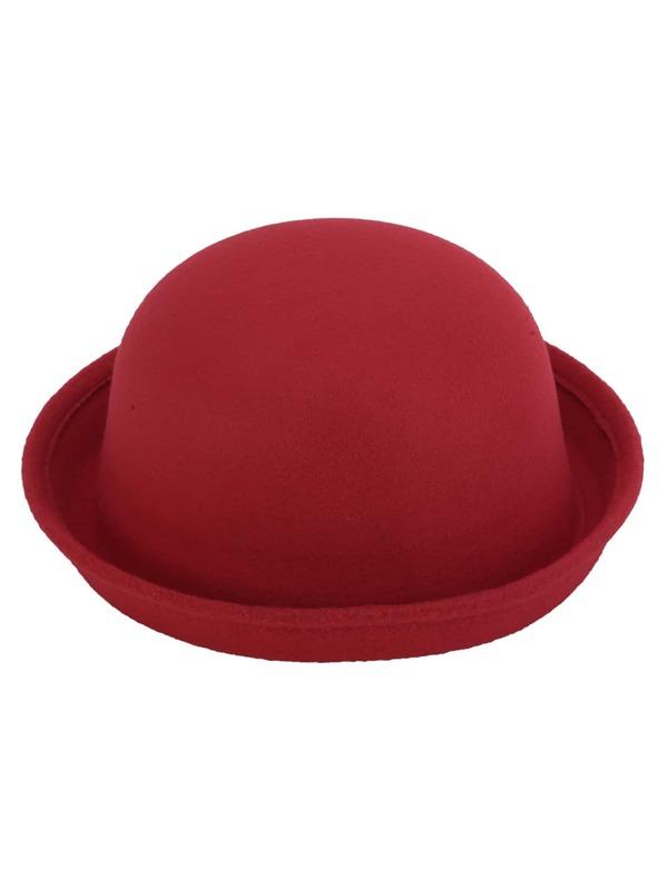 meilleur fournisseur large choix de couleurs bonne réputation Chapeau melon feutré vintage - rouge