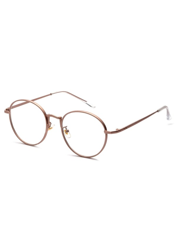 54c4b4f75c Rose Gold Delicate Frame Clear Lens Glasses   SHEIN