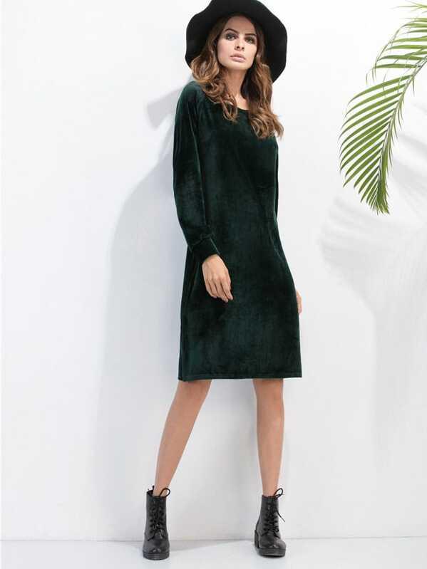 Vestido verde de velvet