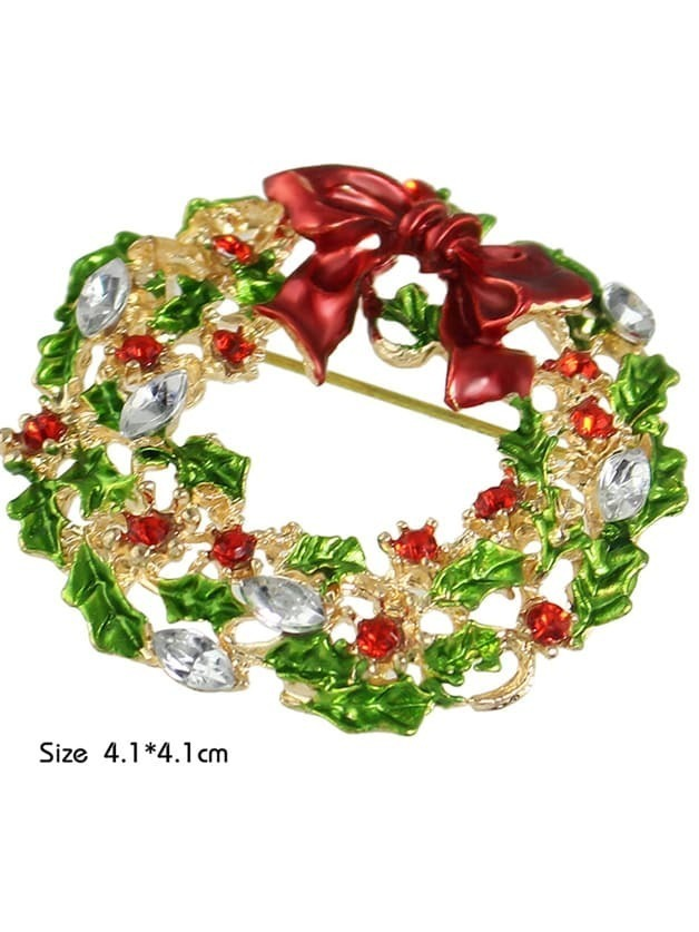 New Christmas Gift Colorful Rhinestone Flower Brooch