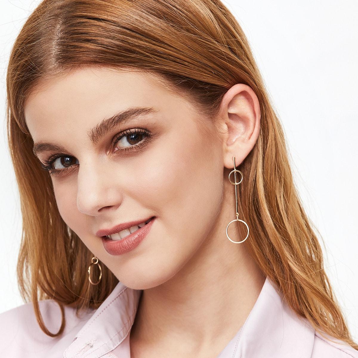 Minimalist Ohrringe mit Holen Design Kries-gold