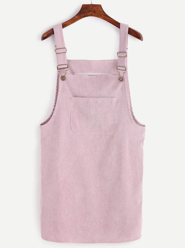 f4a26e06b12 Front Pocket Corduroy Overall Dress