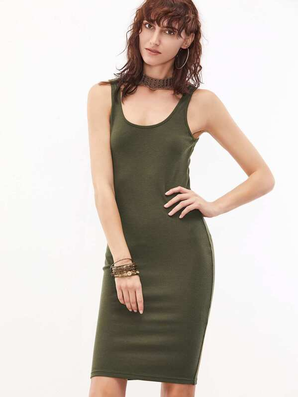 cf51d1911c05 Cheap Olive Green Sleeveless U Neck Bodycon Dress for sale Australia ...