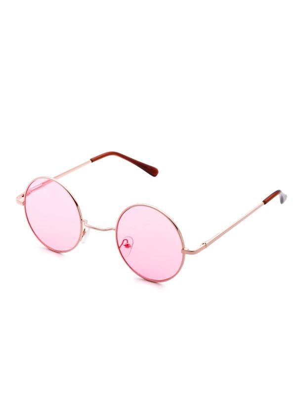 2a6c1ab432 Cheap Gold Frame Pink Lens Round Sunglass for sale Australia   SHEIN