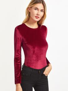 d6fdff1b95 Cheap Burgundy Open Back Velvet Long Sleeve Bodysuit for sale Australia