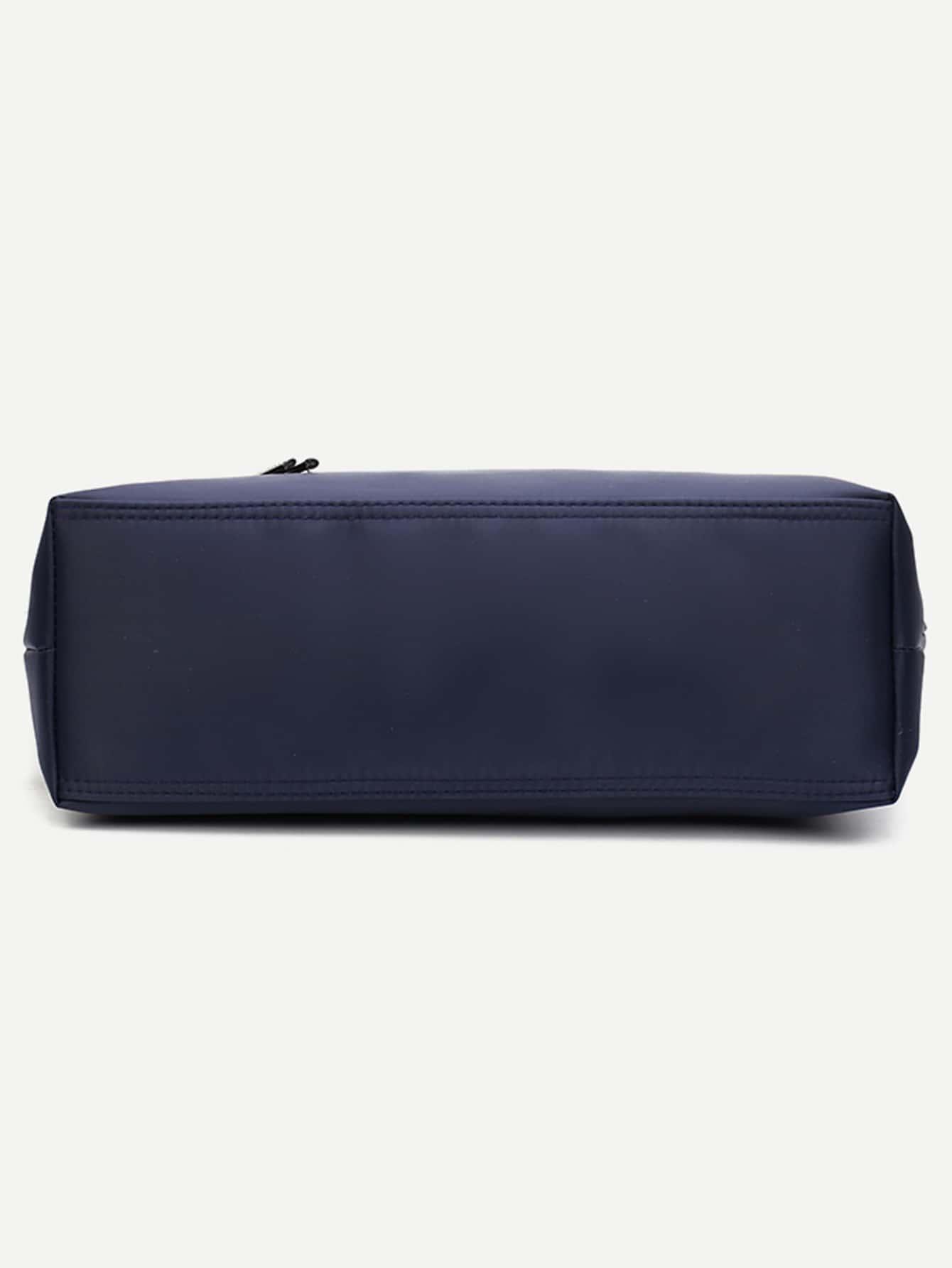 nylon einkaufstasche mit rei verschluss marine shein. Black Bedroom Furniture Sets. Home Design Ideas