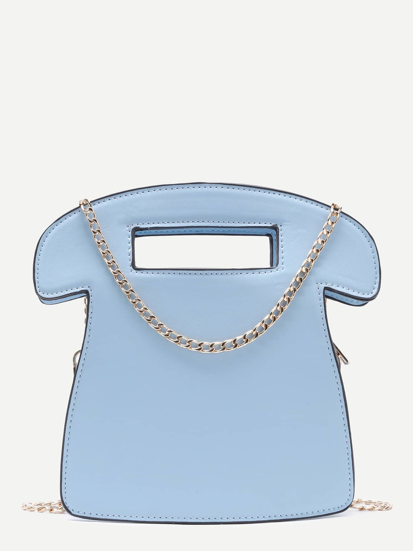 Blue Call Me Tel Bag With Chain Strap