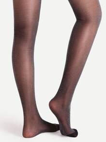 b28a8bb3987 Black High Stretch Lurex Glitter Pantyhose Stockings