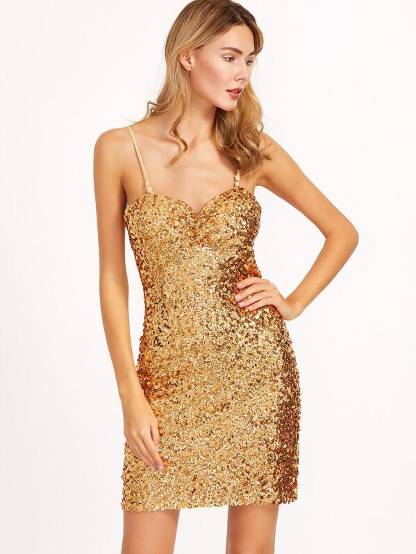 f03ad81b0be1 Vestito Tubino Con Paillettes - Oro