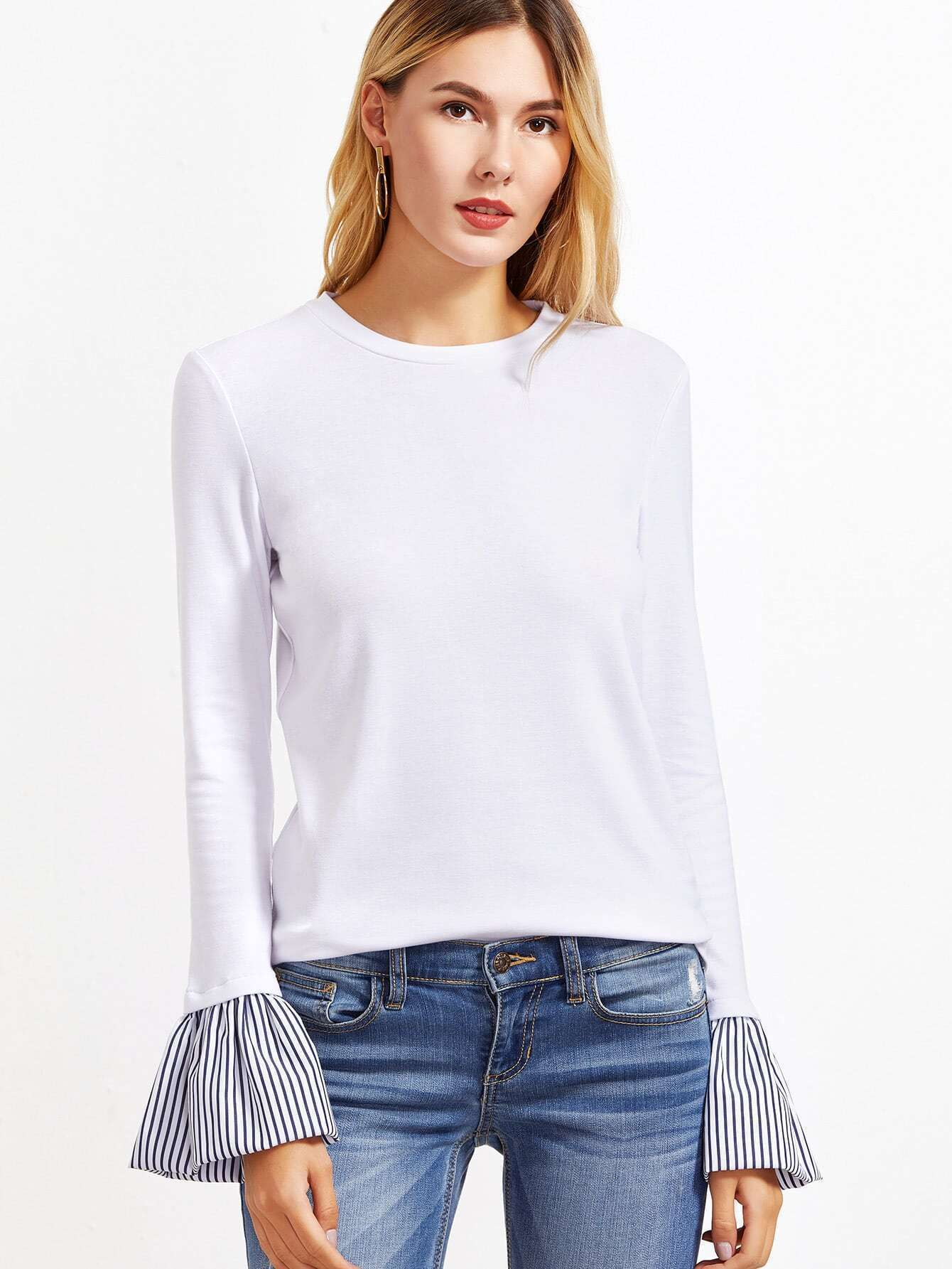Long Sleeve T-Shirts, Shop Women's T-Shirts Cheap Online | SheIn.com
