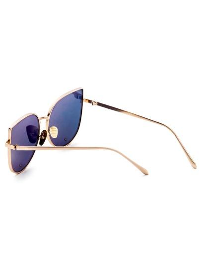 Gold Frame Pink Cat Eye Stylish Sunglasses -SheIn(Sheinside)