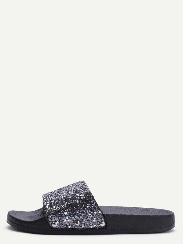 vendite speciali autentico Buoni prezzi Pantofole Suola Di Gomma Con Paillettes - Nero