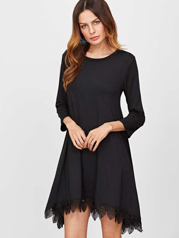 Schwarze kleider vorne kurz hinten lang