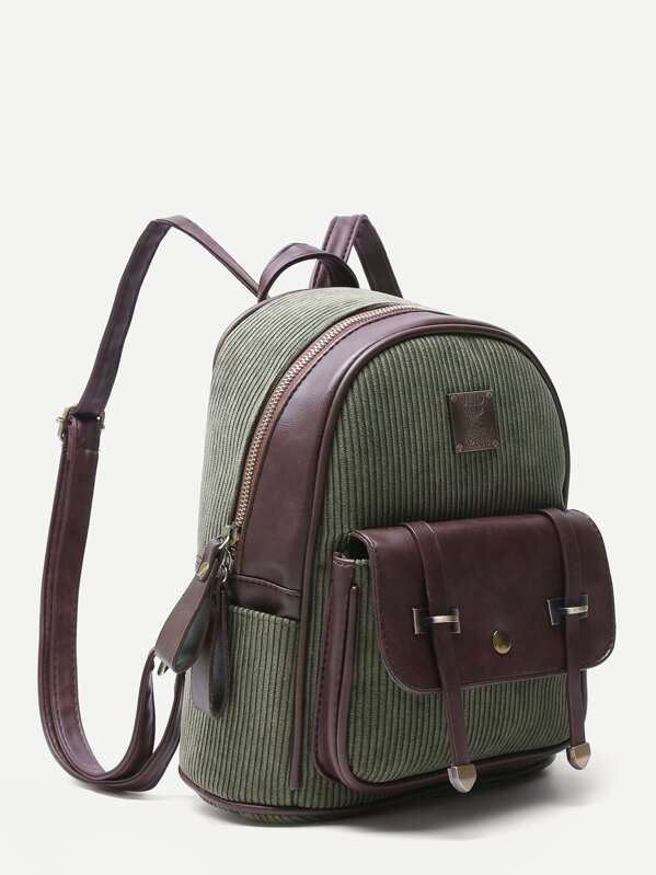 ... good texture b83f7 05922 Olive Green Corduroy and PU Pocket Front Mini  Backpack -SheI  uk availability 85e4f 467bb Herschel Classic Nova ... 3cacf3f6b3db3
