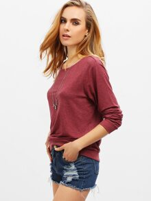 Wine Red Basic Tee pictures