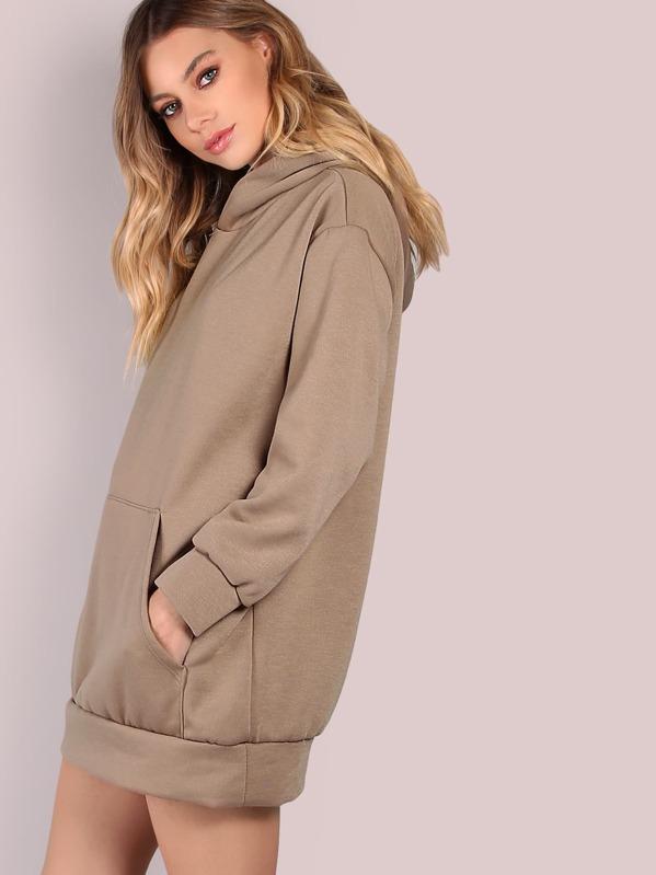 2d193efe8436b9 Oversized Fleece Hoodie MOCHA   SHEIN