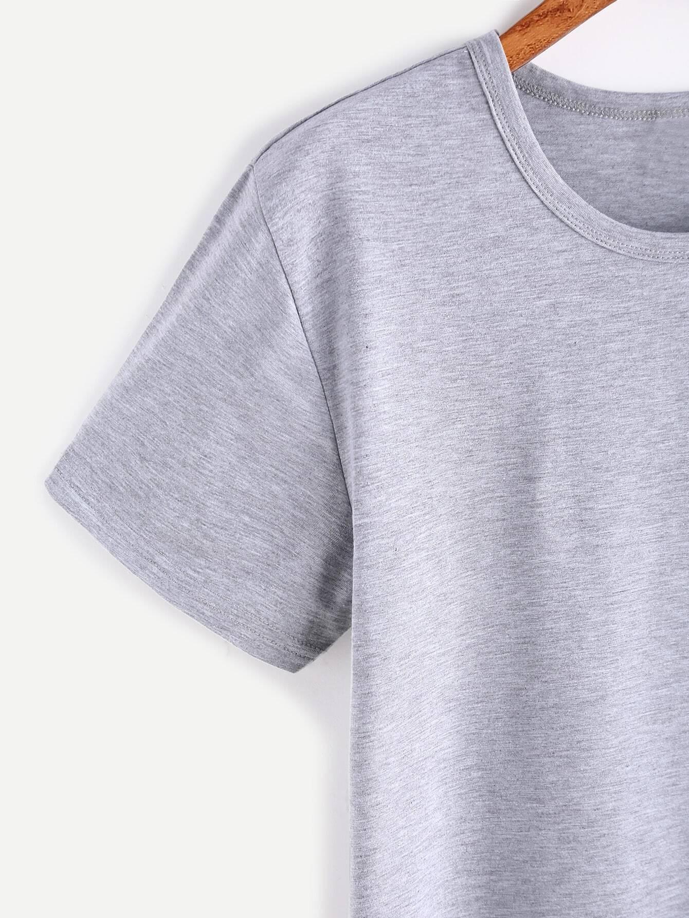 Heather Grey Elephant Print T-shirt