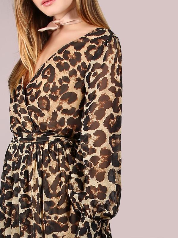 8f1b74d858 Leopard Print Surplice Chiffon Maxi Dress. AddThis Sharing Buttons