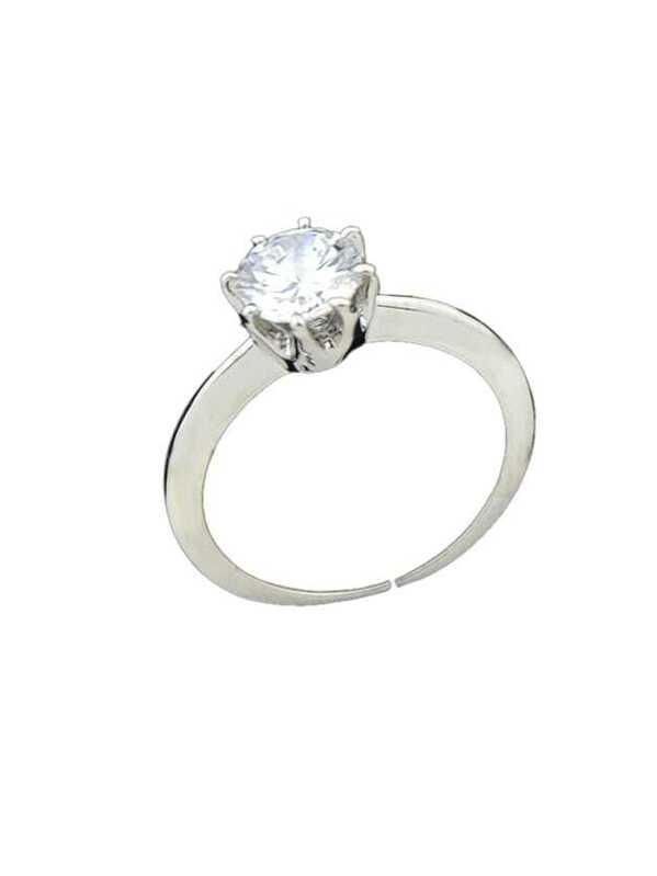 93337b33f2 Silver Imitation Crysta Band Wedding Rings | SHEIN