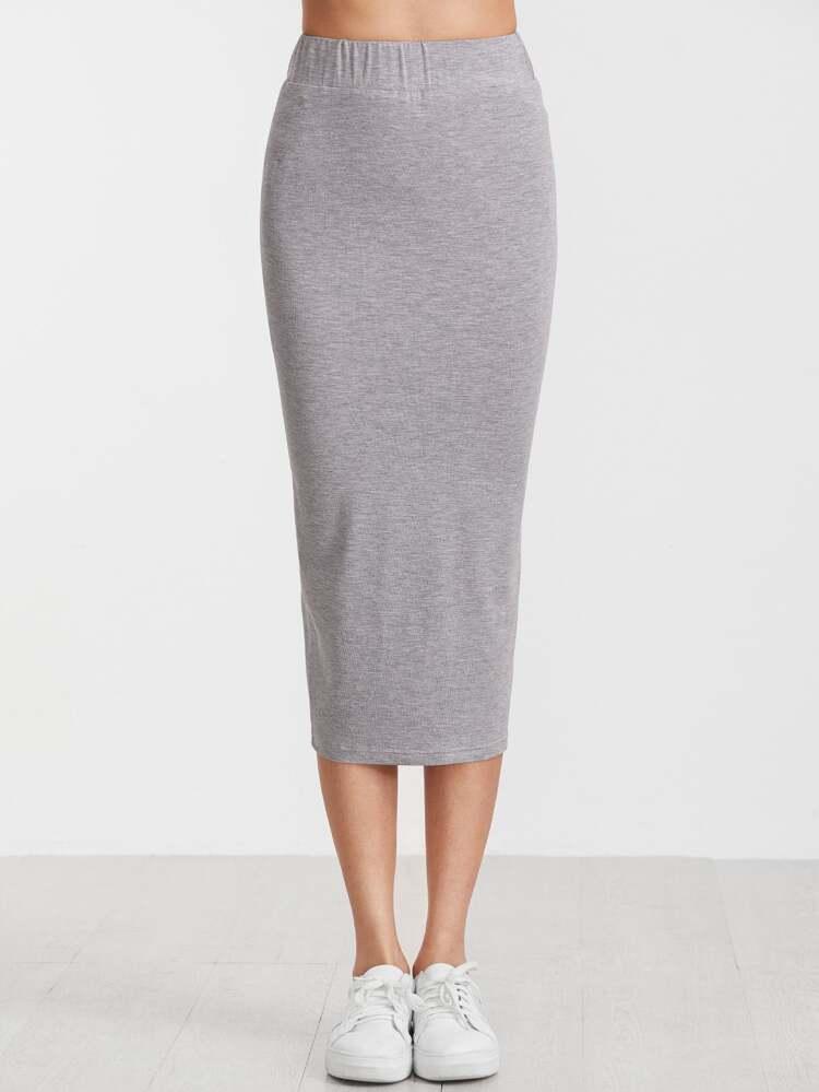 7fbec8788 Falda de tubo con cintura elástica - gris