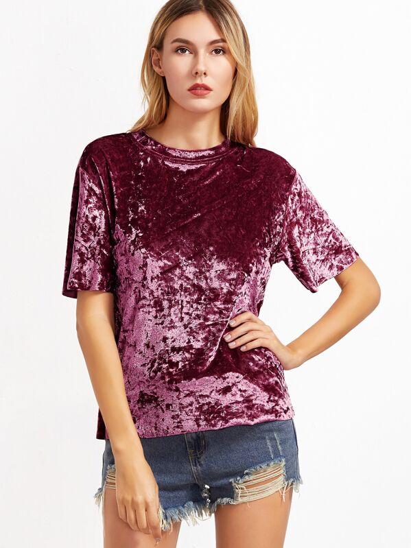 0a65a5df4ac Crushed Velvet T-shirt