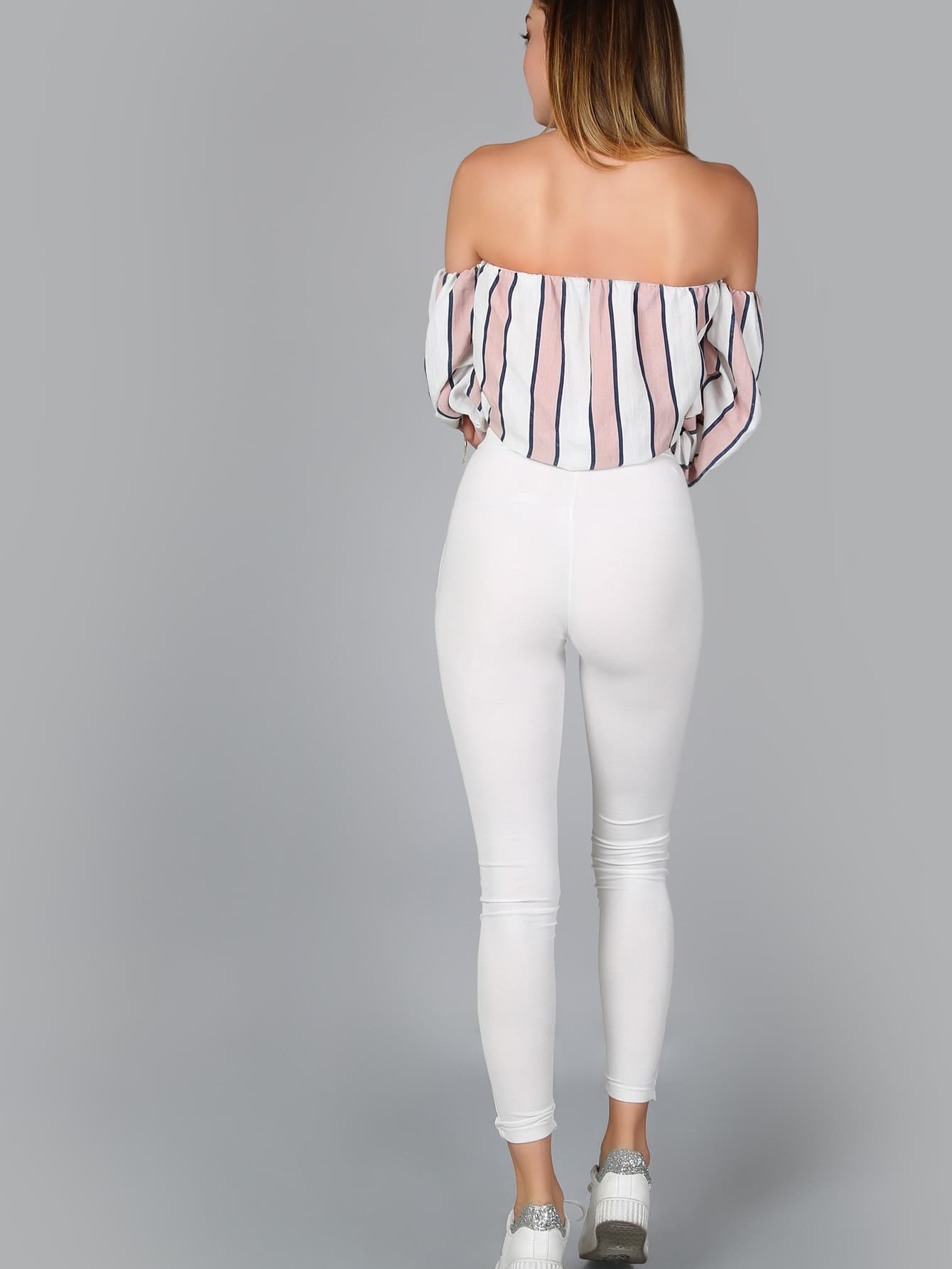Pink Off The Shoulder Ruched Sleeve Top