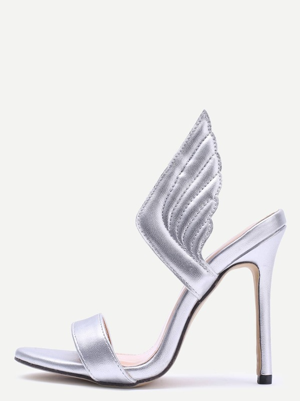1e9b96ebfea2 Silver Wings Stiletto High Heels -SheIn(Sheinside)