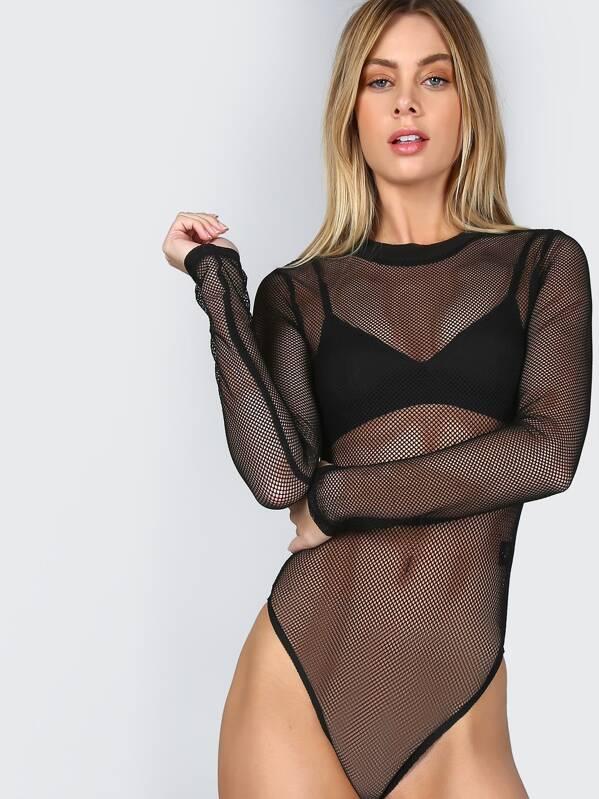 dfa207359ad Cheap Sleeved Fishnet Bodysuit BLACK for sale Australia