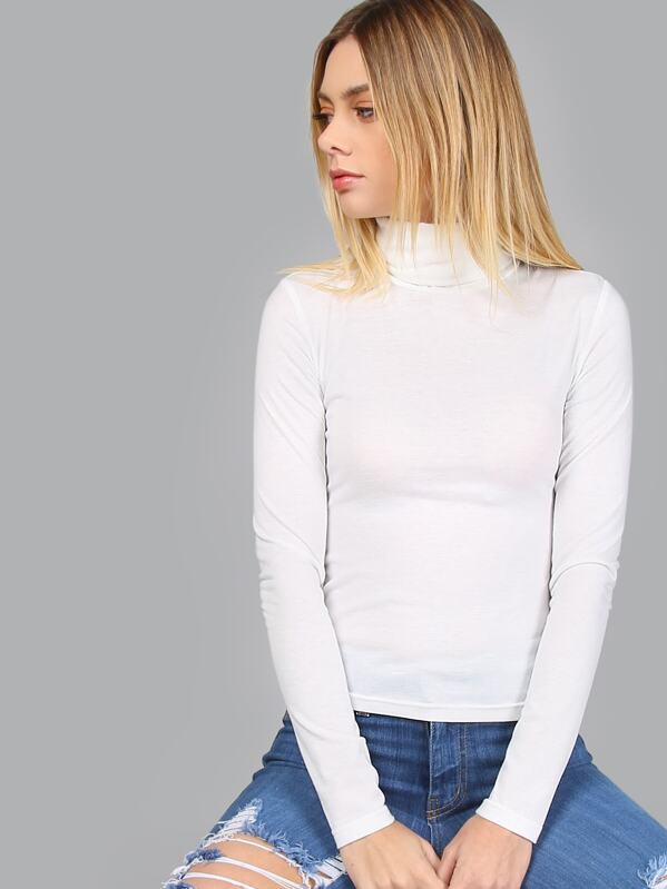 07fd41149dbb Turtleneck Long Sleeve Slim Fit T-shirt