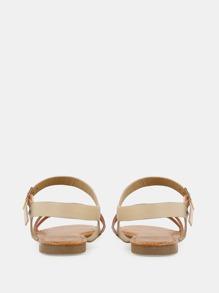 c37918c45990 Metallic Duo Skinny Strap Sandals ROSE GOLD -SheIn(Sheinside)