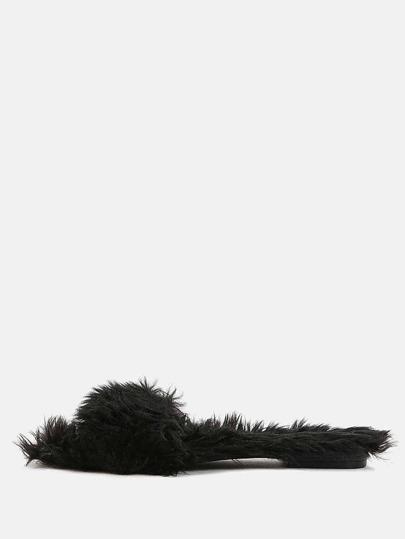 e5232af00f50 Cheap Faux Fur Slide Sandals BLACK for sale Australia
