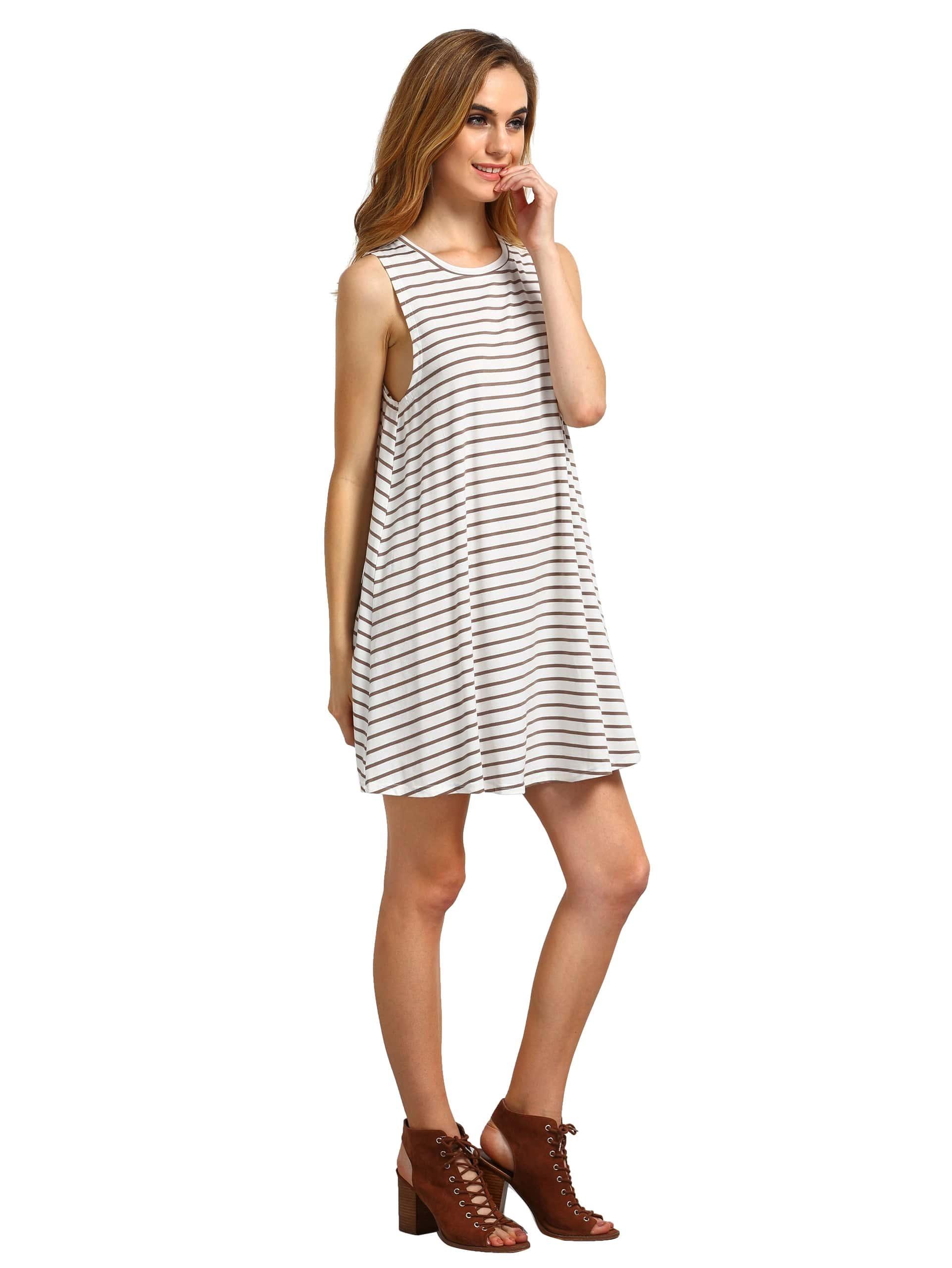 Striped Swing Tank Dress