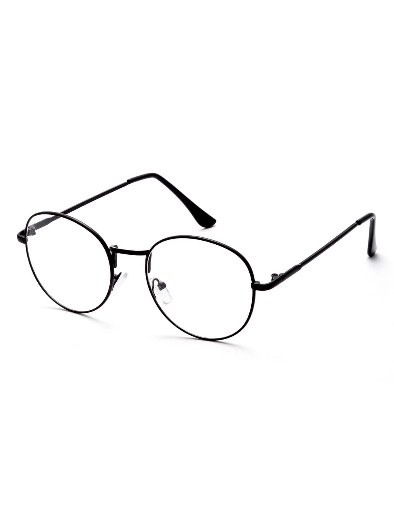 e1cd57034fb6 Black Frame Clear Lens Glasses -SheIn(Sheinside)