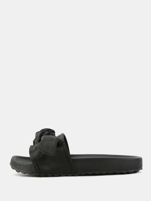 Satin-sandale mit schleife 7uWS2Vhe