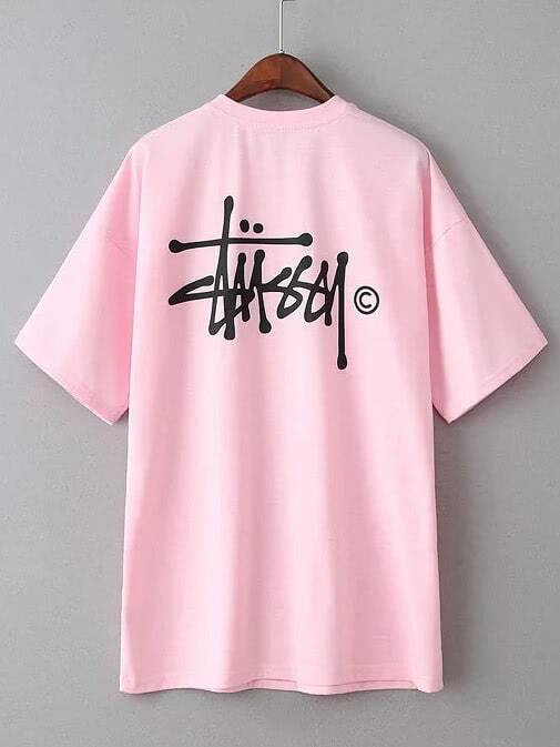 499ca9914c5 Cheap Pink Letter Print Short Sleeve T-shirt for sale Australia