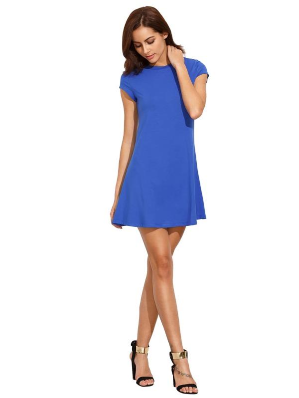 Blaues kleid was druber
