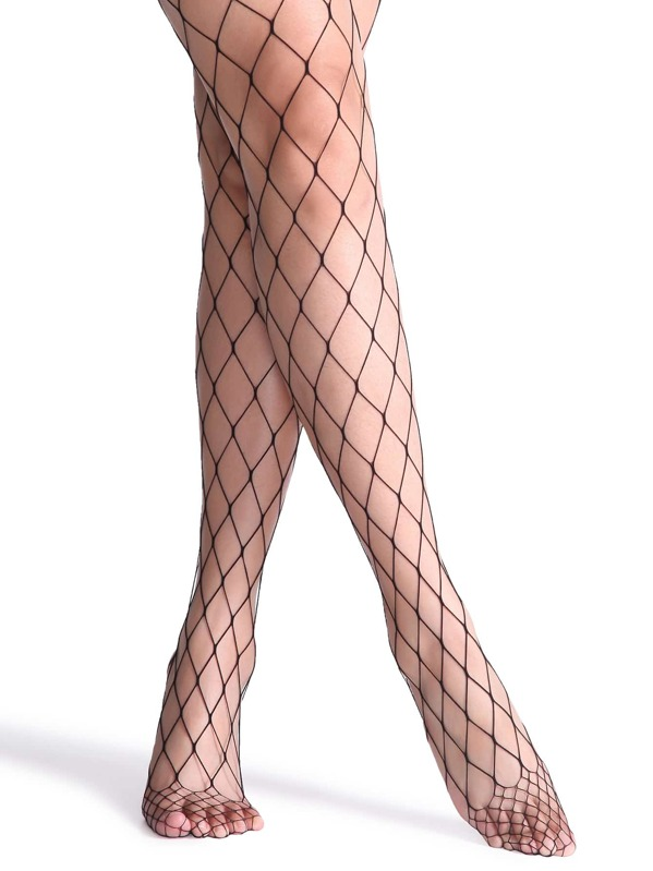 8daf5a3a89a85 Black Sexy Fishnet Stockings | SHEIN