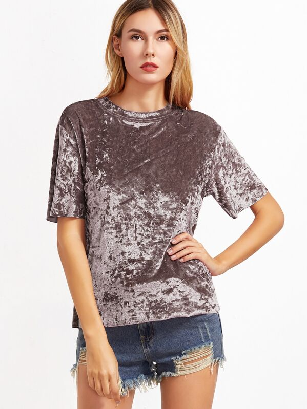 9058bb06a5c Crushed Velvet T-shirt