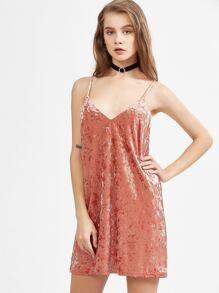 vestito stretto di velluto stretto - rosa  60966324a92